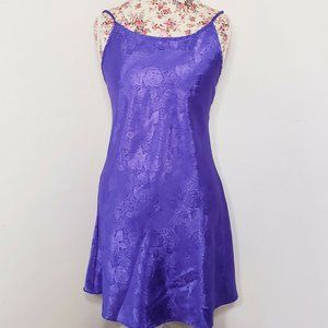 Night Magic Purple Jacquard Low Back Nightgown